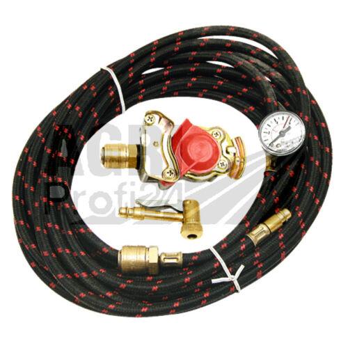 Reifenfüllschlauch 8m mit Kupplungskopf/_Traktor/_Druckluftbremsanlage/_Unimog/_LKW