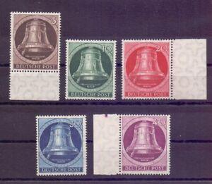 Berlin-1951-Glocke-Links-MiNr-75-79-postfrisch-Michel-100-00-148