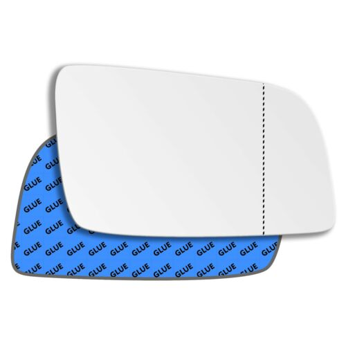 Right Driver Side Wide Angle Mirror Glass for Vauxhall Astra G 1998-2004 19RAS