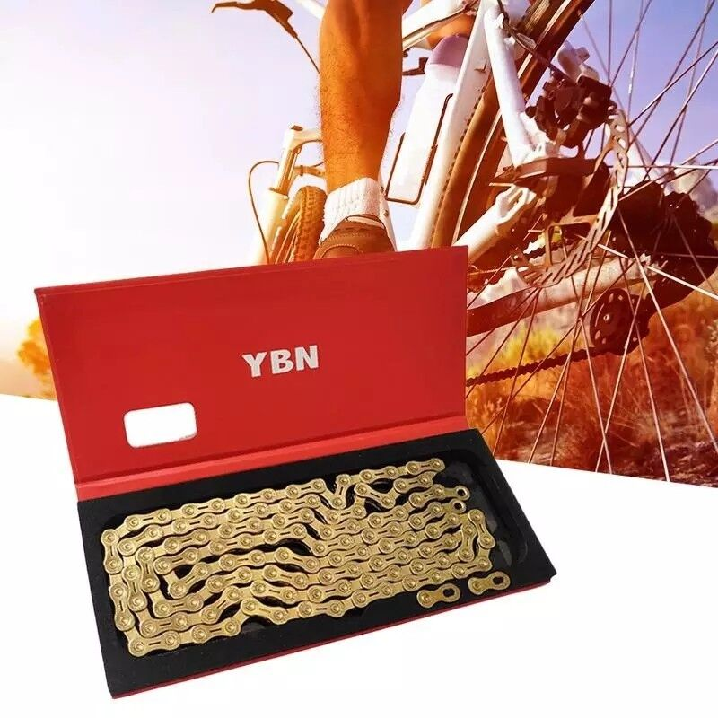 Gold chrome titanium chain ybn