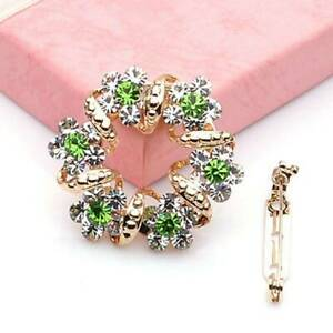 Korean-1pc-Gold-Brooch-Rhinestone-Garland-Scarf-Clip-Brooches-Pin-Ring-Jewelry