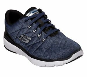 Negro Azul Espuma Viscoelástica Deporte Hombre Malla Zapato Skechers 5Z4qW7Fw7