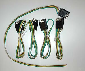wiring harness pin connector trailer end bond way flat male image is loading 5 wiring harness 4 pin connector trailer end