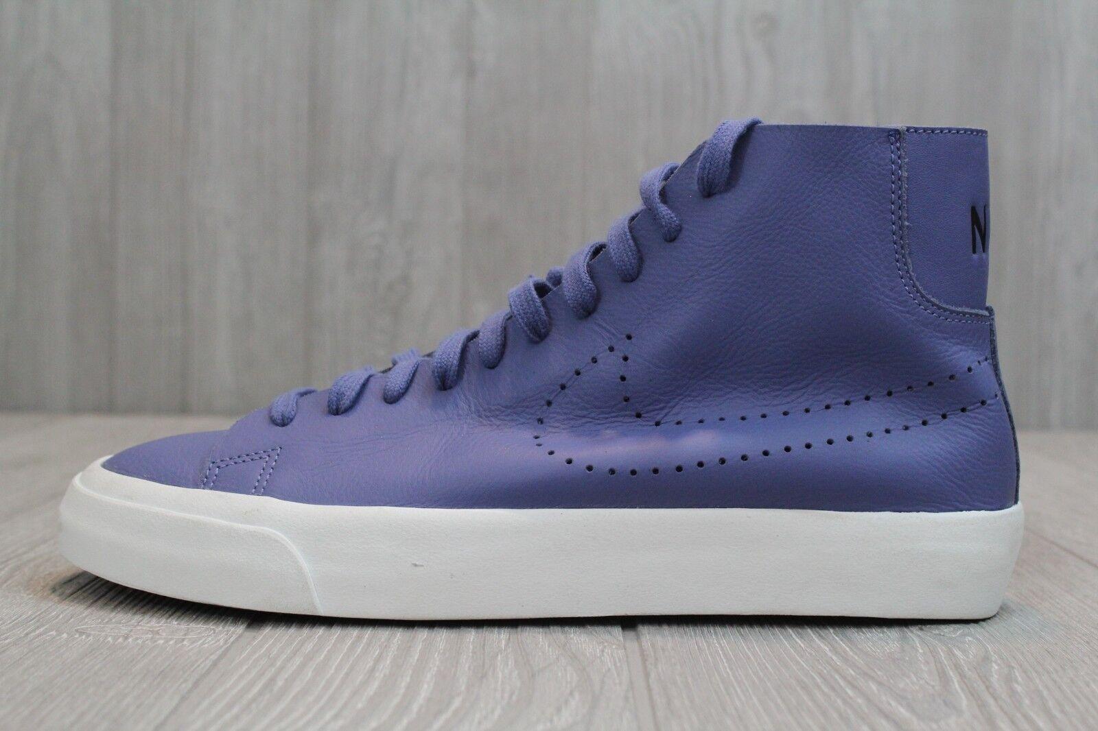 24 Nike Blazer Studio Italian Leather Men's shoes bluee Sz 9-11 880870 400  170