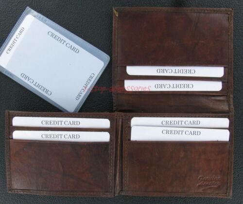 New Men/'s Bi-Fold Fine Leather Credit Card ID Wallet Holder
