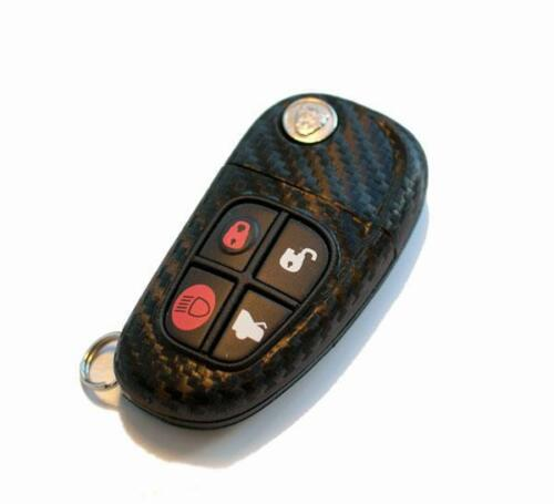 Jaguar XJ X-Type S-Type XJ XK key carbon fiber style key sticker