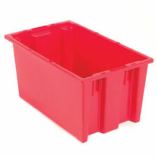 Stack And Nest Shipping Container No Lid 19 12x13 12x8 Red Lot Of 6