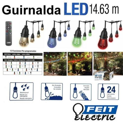 5X Light Bulb For  Feit 48ft 24 LED RGB Outdoor Weatherproof Color Changing