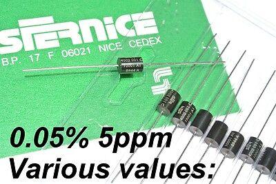 1K ...100K Values 0.01/% 5ppm High Precision Axial Resistor VISHAY RAK1 Low-Ind