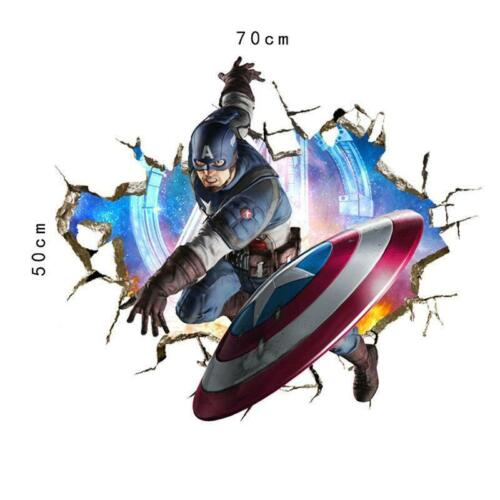 3D Effect Avengers Super Hero Wall Stickers Posters Decals 70x50cm Free Delivery
