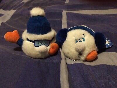 Adattabile Due Adorabili Teddys Blu E Bianco-mostra Il Titolo Originale Processi Di Tintura Meticolosi
