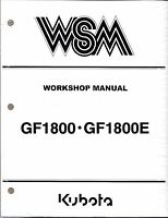 Kubota Gf1800 (e) Mower With Decks Workshop Service Manual