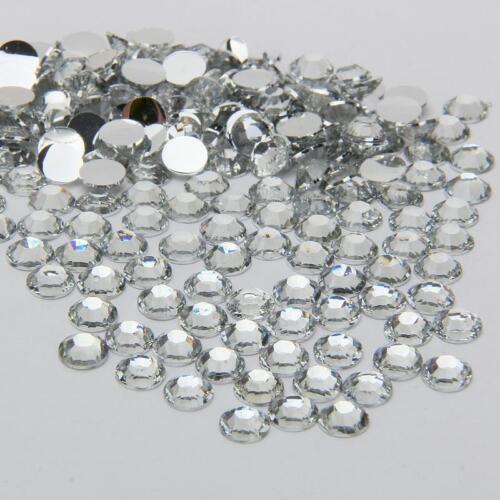 2000pcs 2//3//4//5mm 14 Facets Gava Resin Flatback Rhinestone  Crystal Nail Art