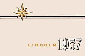 Bishko OEM Maintenance Owner's Manual Bound for Lincoln All Models 1957