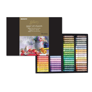 Set of 72 Assorted Colors Mungyo Paper Box MOPV-72 Soft Oil Pastels