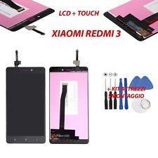 display originale Xiaomi RedMi 3s 3 NERO vetrino schermo LCD vetro touchscreen