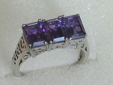 African Amethyst Sterling Silver Ring 2.55 Ct. - Size O