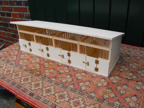 Eigenbau aus Holz Schleich-Pferde Pferdestall//Pferdeboxen für u.a