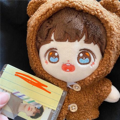 20CM Kpop Star Baek Hyun Sehun Doll Clothes Bear Coat Warm Accessory Gift N