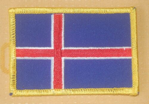 Island Aufnäher Aufbügler Patch Flagge