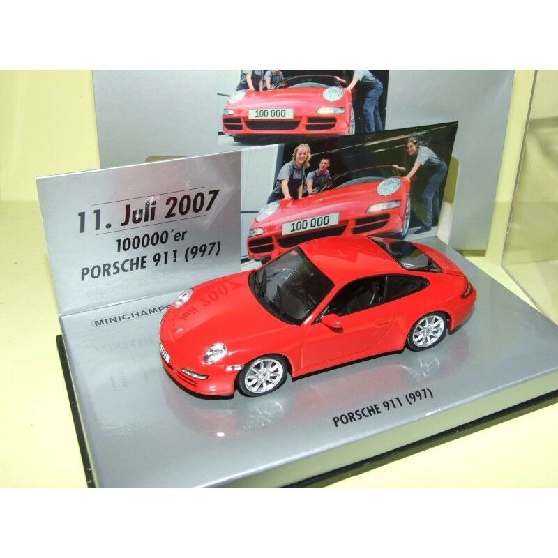 PORSCHE 911 CARRERA S 997 Rouge 100000 Exemplaire 11 07 2007  MINICHAMPS 1 43