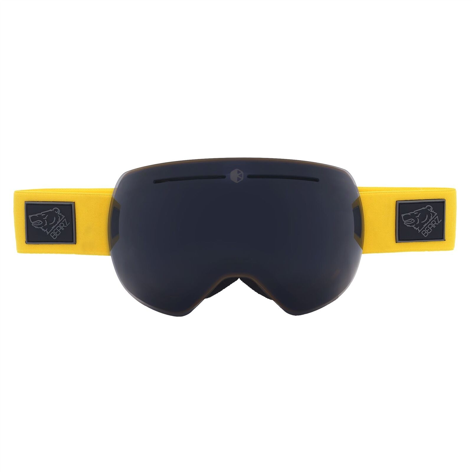 Bearz Yeti Yellow Magnetic Frameless Snow Snowboard Ski Goggles Mirror Anti-Fog