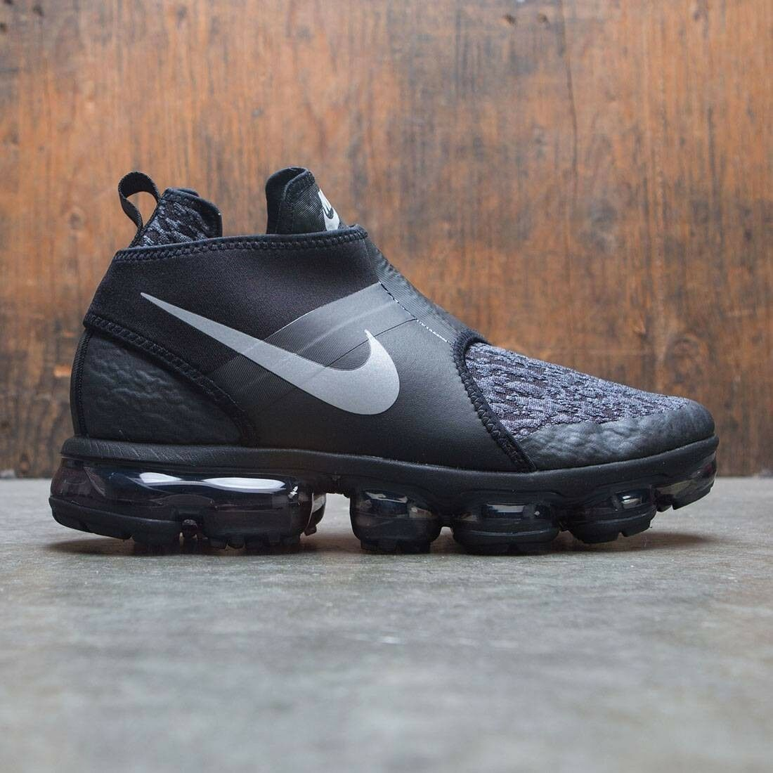 Nike Air Vapormax Chukka Slip Black Silver Comfortable Special limited time