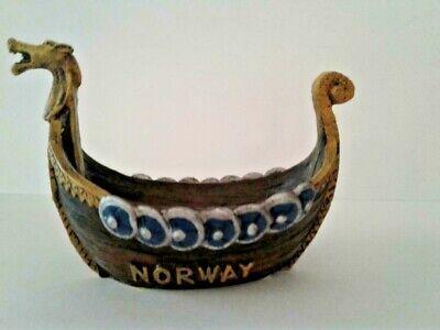 NEW Norway Viking Ship Resin Candy Dish