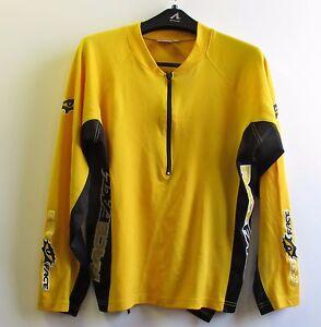 RaceFace-Long-Sleeve-Jersey-1-2-Zipper-Yellow-and-Black-Men-039-s-Runners-Shirt