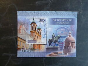 2013-HUNGARY-STAMP-DAY-MINI-SHEET-USED-STAMPS