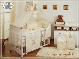 my sweet baby bettset bettw sche sparpaket rosa creme wei braun lila blau 12tlg ebay. Black Bedroom Furniture Sets. Home Design Ideas