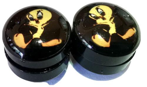 Pair Of 8mm Tweety Pie  Magnetic Plug Tunnel Earring FAKE NO PIERCING