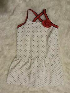 Janie Jack Polka Dot Dress Red