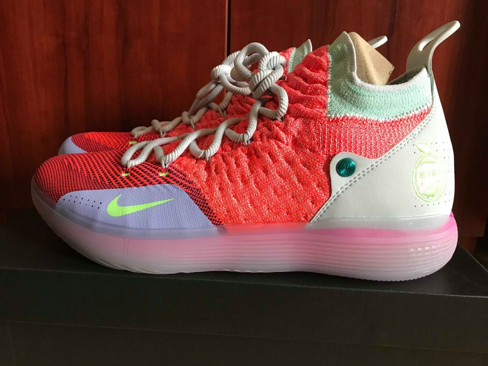 Nike Zoom KD 11 EYBL Peach Jam AO2604-600 Kevin Durant Mens Basketball Shoes NIB New shoes for men and women, limited time discount