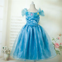 Cinderella Girls Dress Birthday Princess Ella's Costumes Butterfly 2-6 Years