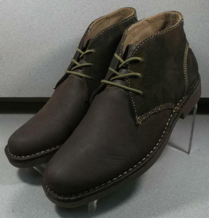 5931211 ESBT50 Men's shoes Size 9 M Brown Leather Lace Up Boots Johnston Murphy