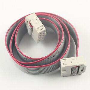 20Pcs 2.54mm Pitch 2x5 Pin 10 Pin 10 Wire IDC Flat Ribbon Cable ...