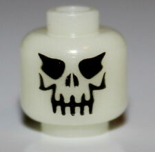 LeGo Skeleton Glow-In-the-Dark Minifig Head NEW