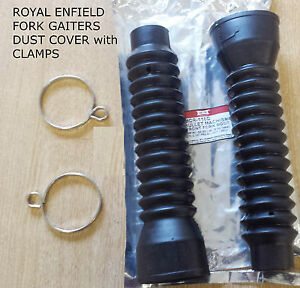 Details about ROYAL ENFIELD RUBBER FORK GAITERS DUST 32 X 50 X 230MM COVER  WITH FIXING CLAMPS