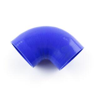 "OBX 45 Degree Silicone Elbow Reducer 3.5/""-4/"" Black Hose"