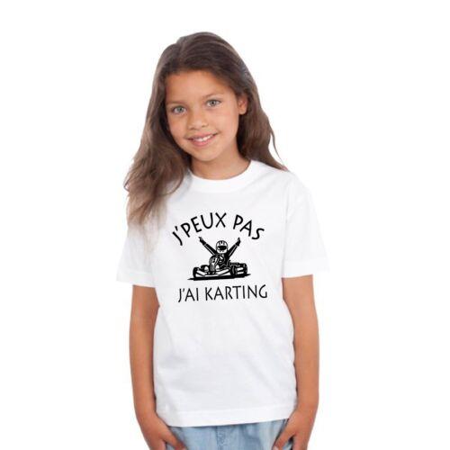 T-shirt ENFANT J/'PEUX PAS J/'AI KARTING