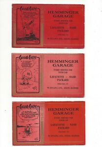 3 Lafayette Nash Packard Buvards Hemminger Garage Dixon Illinois Diff Caricatures-afficher Le Titre D'origine