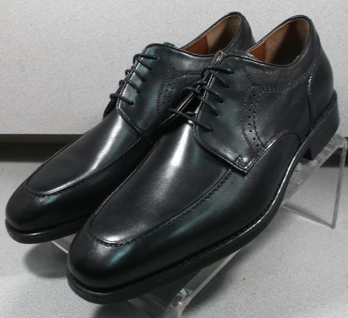 152435 MS50 Chaussures Hommes Taille 10 m Noir en Cuir à Lacets Johnston & Murphy