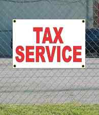 2x3 TAX SERVICE Red & White Banner Sign NEW Discount Size & Price FREE SHIP
