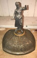 antique cast iron Stove Top With Figure