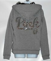 Victoria's Secret Pink Limited Edition Bling Sequin Faux Fur Lined Hoodie S