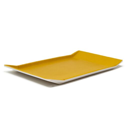 "Orval Small Serving Tray For One 8/"" Rectangular Melamine Mustard Yellow Platter"