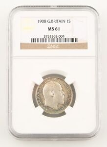 1908-Great-Britain-Shilling-Silver-Coin-MS-61-NGC-Edward-VII-England-KM-800