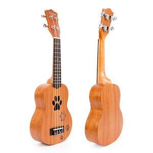 Kmise Soprano Ukulele Uke Acoustic Hawaii Guitar 21 Inch 12 Fret Mahogany