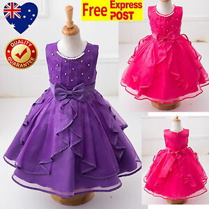 Purple-Or-Fuchsia-Girls-Dress-Flower-Girl-Dress-Vintage-Birthday-Party-Wedding
